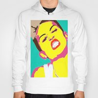 miley cyrus Hoodies featuring Miley Cyrus by Becky Rosen