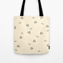 Libra Pattern - Beige Tote Bag