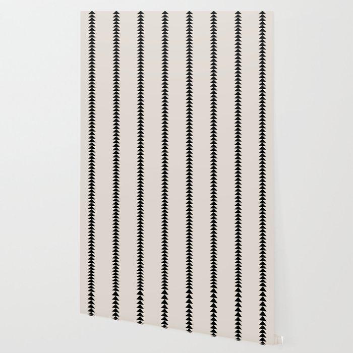 Minimal Triangles - Black & White Wallpaper