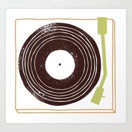 Put a record on for me, darlin' Art Print