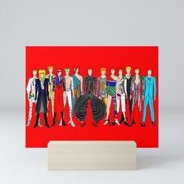 Starman on Red Mini Art Print