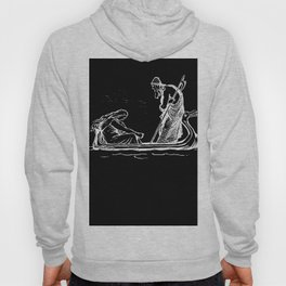 Norse Myth Frigg and Odin Sailing In Fensalir Hoody