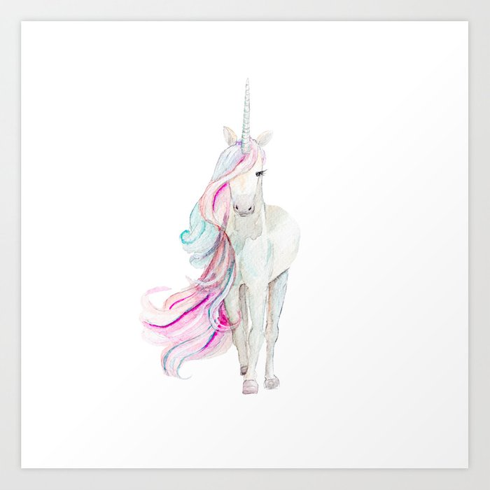 Watercolor Unicorn Kunstdrucke