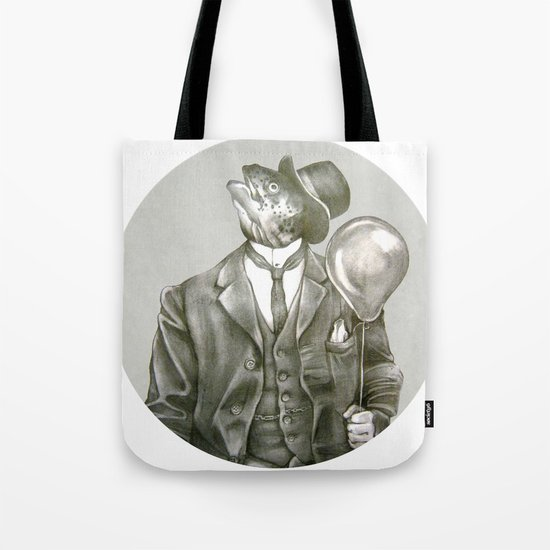 In which a dapper fish is encircled Tote Bag