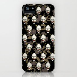 Japanese Ghost Mask Pattern  iPhone Case