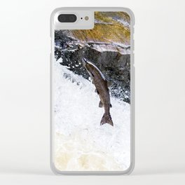 Flying Salmon Clear iPhone Case