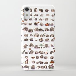 A hundred hedgehogs iPhone Case