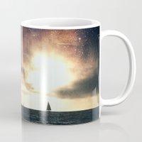 sail Mugs featuring SAIL by Grafikki Shop