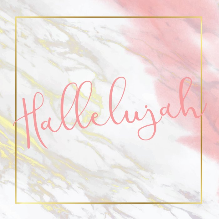 Hallelujah Pink Watercolour & Gold Marble Duvet Cover
