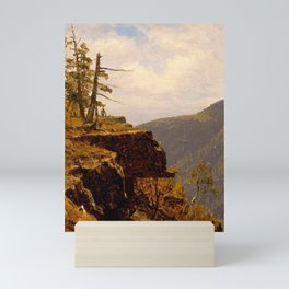Sanford Robinson Gifford - A Sketch of a Crag in the Catskills Mini Art Print