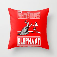 The White Stripes     Elephant Throw Pillow
