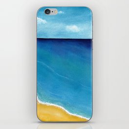 Ocean and Beach Watercolor Landscape iPhone Skin