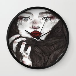 Lady Red Lips Wall Clock