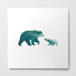 Bears Forest Metal Print