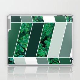 Green Herringbone #society6 #green #succulent Laptop & iPad Skin