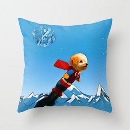 Super doggy Throw Pillow