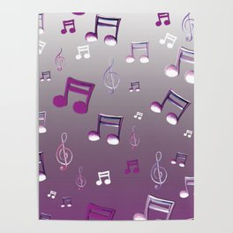 Purple Notes Poster
