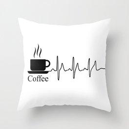 Cardiac Coffee Throw Pillow