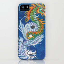 Two Dragons Face Right iPhone Case