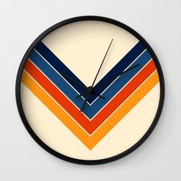 Colorful V Shape Retro Stripes Chilseongsin Wall Clock