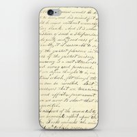 writing iPhone & iPod Skins featuring Vintage Writing by Paper Rescue Designs