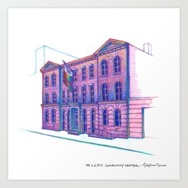 NYC Pride: LGBT Center Art Print