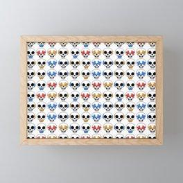 Cute Skulls No Evil II Pattern Framed Mini Art Print