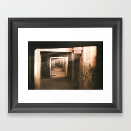 Streaking Framed Art Print