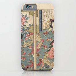 Keisai Eisen - A Modern Day Clear Mirror (Masukagami) 3 (1822) iPhone Case