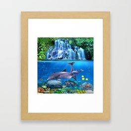 The Dolphin Family Framed Art Print
