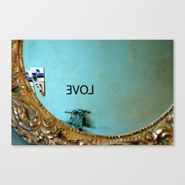 Backwards Love Canvas Print