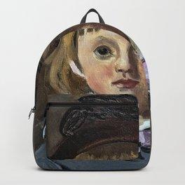 Portrait de son fils Jean en bonnet à pompon, Claude Monet Backpack