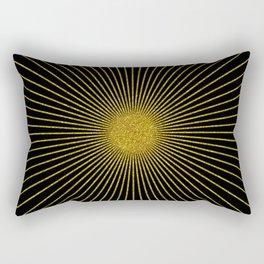 Gold glitter sun rays, gold glitter, gold black abstract geometric, gold sparkles Rectangular Pillow