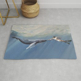 The Creation of Adam the Whale Rug