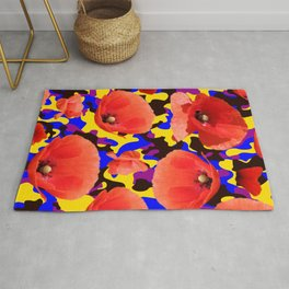 Poppie Camouflage Red Yellow - Living Hell Rug