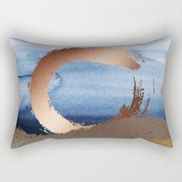 Inspiration: Gold, Copper And Blue Rectangular Pillow