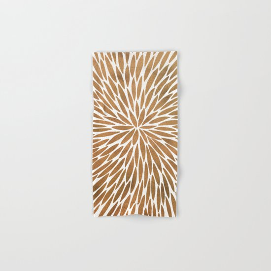 Rose Gold Burst Hand & Bath Towel