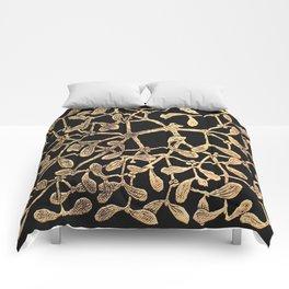 Mistletoe Black Comforters
