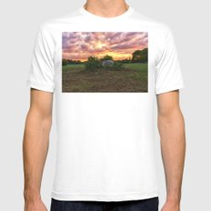Waring field at sunset White Mens Fitted Tee MEDIUM