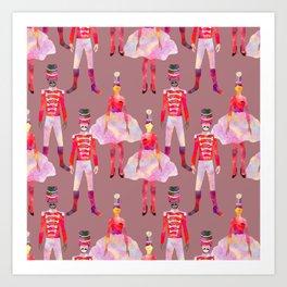Nutcracker Ballet - Light Pink Gray Art Print
