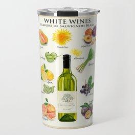 WHITE WINES - Flavors in Sauvignon Blanc Travel Mug