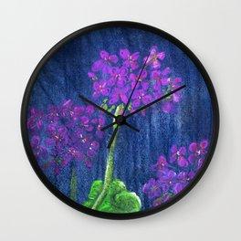 Pink Geraniums Wall Clock