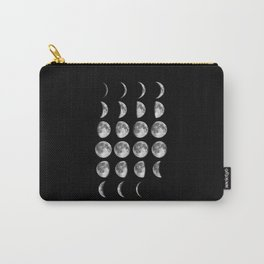 Phases of the Moon print black-white photo new lunar eclipse poster bedroom home wall decor Carry-All Pouch