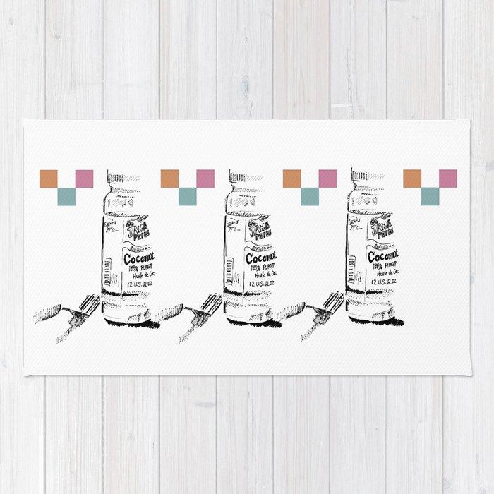 Triple Coconut Oil Illustration Rug
