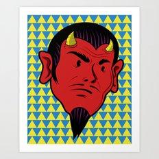 Beady Eyed Satan Art Print