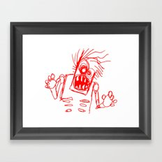 doodle zombie of the undead Framed Art Print