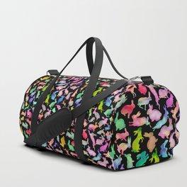 Kissing Watercolor Bunnies Duffle Bag