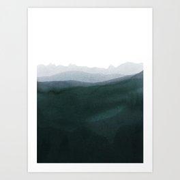 mountain horizon 3 Art Print