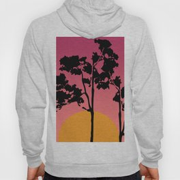 Abstract African Trees Sunrise  Hoody