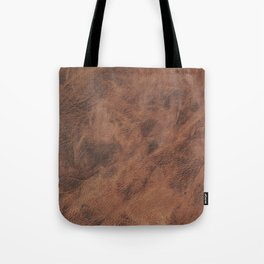 Old Tan Leather Print Texture | Cowhide Tote Bag